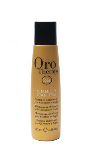 Увлажняющий шампунь с микрочастицами золота Fanola Oro Therapy 100мл - 00-00010868