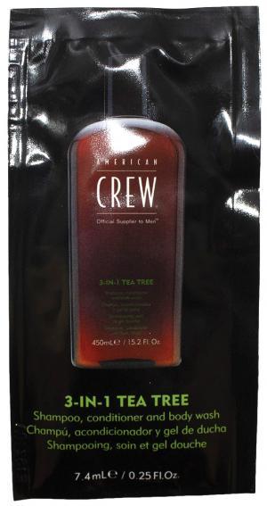 Пробник Засіб 3-в-1 Чайне дерево American Crew 7,4 мл - 00-00010928