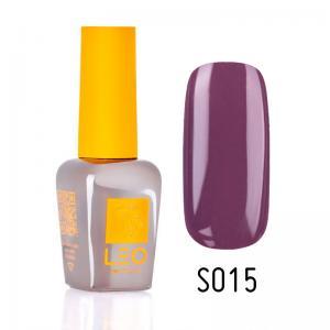 Гель-лак для нігтів LEO seasons №015 Щільний фіолетово-бежевий (емаль) 9 мл - 00-00011288