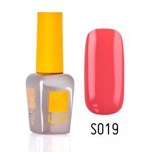 Гель-лак для нігтів LEO seasons №019 Щільний яскраво-кораловий (емаль) 9 мл - 00-00011289