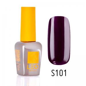 Гель-лак для нігтів LEO seasons №101 Щільний темно-фіолетовий (емаль) 9 мл - 00-00011351