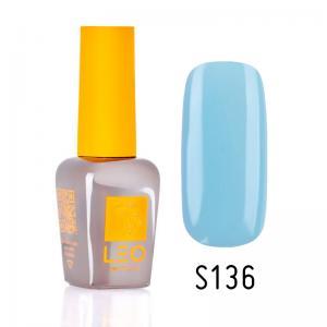 Гель-лак для нігтів LEO seasons №136 Щільний голубий (емаль) 9 мл - 00-00011356