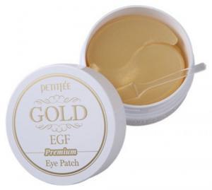 Патчи гидрогелевые под глаза Petitfee Premium Gold & EGF 60 шт - 00-00011389