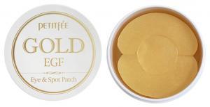 Патчи гидрогелевые под глаза Petitfee Gold & EGF Eye & Sport 60 шт + 30 точечных - 00-00011391