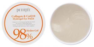 Патчи гидрогелевые под глаза Petitfee Collagen & Co Q10 60 шт - 00-00011403