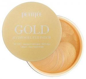 Патчи гидрогелевые под глаза с золотым комплексом +5 Petitfee Gold 60 шт - 00-00011406