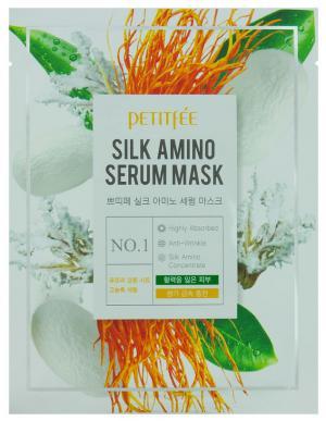 Маска для обличчя з протеїнами шовку Petitfee Silk Amino 25 мл*1 шт - 00-00011447