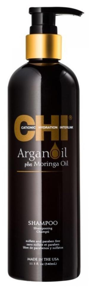 Шампунь живильний аргана Chi Argan Oil Shampoo 340 мл - 00-00011477