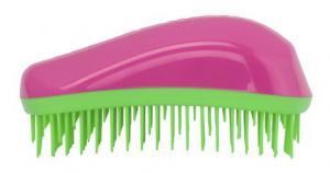 Щетка для волос Dessata Maxi фуксия-лайм - 00-00011819