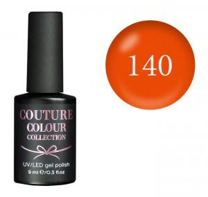 Гель-лак для нігтів Couture Colour №140 Щільний яскраво-оранжевий (емаль) 9 мл - 00-00011998