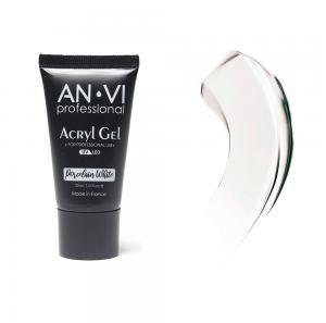 Акрил - гель ANVI для нігтів Porcelain White 30мл - 00-00012236