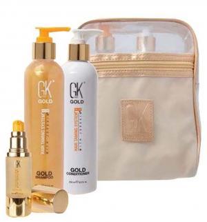 Набір GKHair Gold шампунь, кондиціонер, сироватка для волосся 250+250+30мл - 00-00012292