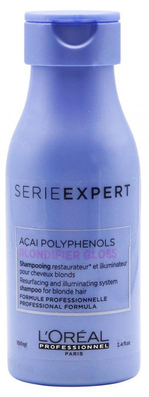 Шампунь для нейтрализации желтизны L'Oreal Professionnel Blondifier Cool Shampoo, 100 мл - 00-00012720
