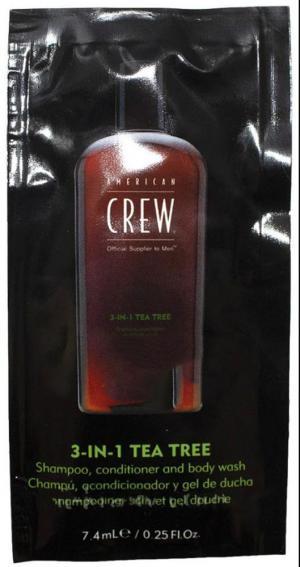 Засіб для догляду за волоссям та тілом 3-в-1 American Crew Classic Tea Tree 7,4 мл - 00-00012804