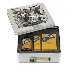 Набір подарунковий для догляду за бородою з 3-х предметів Proraso beard kit Wood and Spice