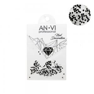 Камінці сваровських ANVI PIXI №4 чорні 200 шт   - 00-00000901