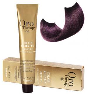 Безаміачна крем-фарба для волосся Fanola Oro Therapy №5/2 Light Chestnut Violet 100 мл - 00-00003079