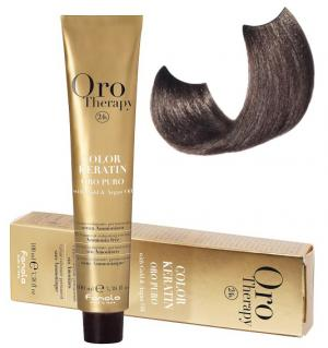 Безаміачна крем-фарба для волосся Fanola Oro Therapy №7/1 Ash Blonde 100 мл - 00-00003097