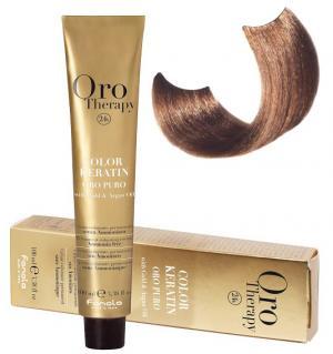 Безаміачна крем-фарба для волосся Fanola Oro Therapy  №7/14 Hazelnut 100 мл - 00-00003099