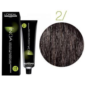 Крем-фарба для волосся L'Oreal Professionnel INOA Mix 1+1 №2 Schwarzbraun 60 мл - 00-00004672