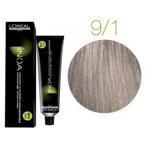 Крем-фарба для волосся L'Oreal Professionnel INOA Mix 1+1 №9/1 Дуже світлий попелястий блонд  60 мл - 00-00004691