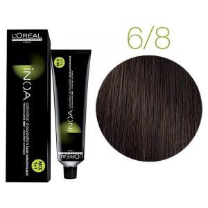 Крем-фарба для волосся L'Oreal Professionnel INOA Mix 1+1 №6/8 Темний коричневий 60 мл - 00-00004701