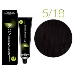 Крем-фарба для волосся L'Oreal Professionnel INOA Mix 1+1 №5/18 Світлий шатен попелястий мокка 60 мл - 00-00004704