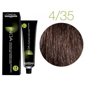 Крем-фарба для волосся L'Oreal Professionnel INOA Mix 1+1 №4/35 темний шатен золотисто-червоний 60 мл - 00-00004722