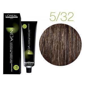 Крем-фарба для волосся L'Oreal Professionnel INOA Mix 1+1 №5/32 Світлий шатен золотистий ірисовий 60 мл - 00-00004724