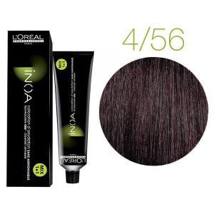 Крем-фарба для волосся L'Oreal Professionnel INOA Mix 1+1 №4/56 Темний шатен 60 мл - 00-00004735