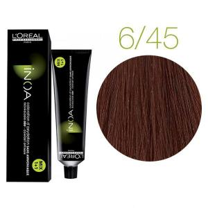 Крем-фарба для волосся L'Oreal Professionnel INOA Mix 1+1 №6/45 Темний блондин мідний червоне дерево 60 мл - 00-00004746