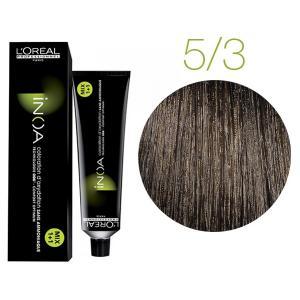 Крем-фарба для волосся L'Oreal Professionnel INOA Mix 1+1 №5/3 Світло-золотистий шатен 60 мл - 00-00004748