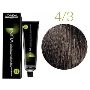 Крем-фарба для волосся L'Oreal Professionnel INOA Mix 1+1 №4/3 Золотистий шатен 60 мл - 00-00004749