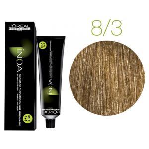 Крем-фарба для волосся L'Oreal Professionnel INOA Mix 1+1 №8/3 Світлий блонд золотистий 60 мл - 00-00004751
