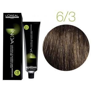 Крем-фарба для волосся L'Oreal Professionnel INOA Mix 1+1 №6/3 Темний золотистий блонд 60 мл - 00-00005500