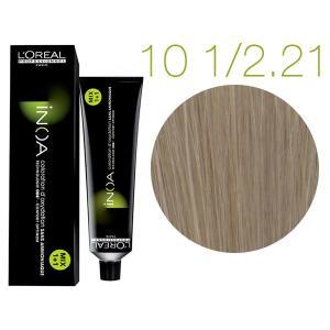 Крем-фарба для волосся L'Oreal Professionnel INOA Mix 1+1 №10-1/2,21 Світлий платиновий попелясто-ірисовий блонд 60 мл - 00-00007424