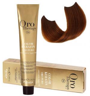 Безаміачна крем-фарба для волосся Fanola Oro Therapy №7/34 100 мл - 00-00007430
