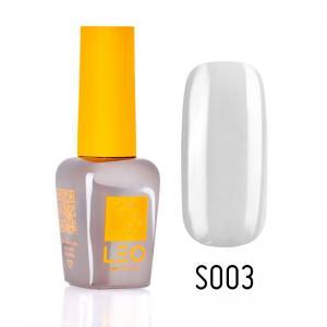 Гель-лак для нігтів LEO seasons №003 Щільний білий з сірим відтінком (емаль) 9 мл - 00-00011282
