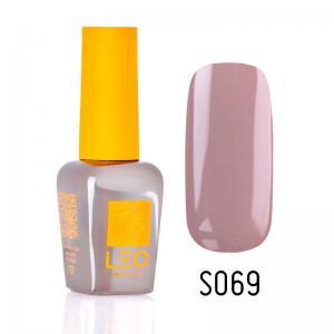 Гель-лак для нігтів LEO seasons №069 Щільний блідо-рожевий з сірим відтінком (емаль) 9 мл - 00-00011335