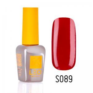 Гель-лак для нігтів LEO seasons №089 Щільний темний червоний (емаль) 9 мл - 00-00011344