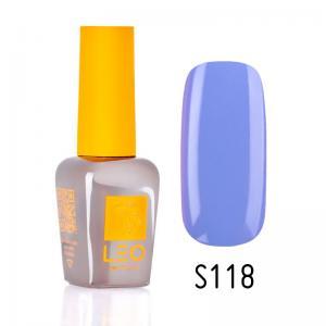 Гель-лак для нігтів LEO seasons №118 Щільний васильковий (емаль) 9 мл - 00-00011352