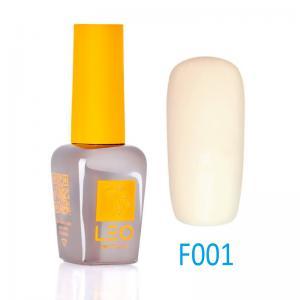 Гель-лак Leo (french) для нігтів №001 Напівпрозорий білий з бежевим відтінком 9 мл - 00-00011451