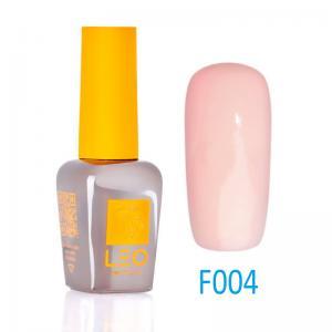 Гель-лак Leo (french) для нігтів №004 Напівпрозорий світло-рожевий 9 мл - 00-00011454