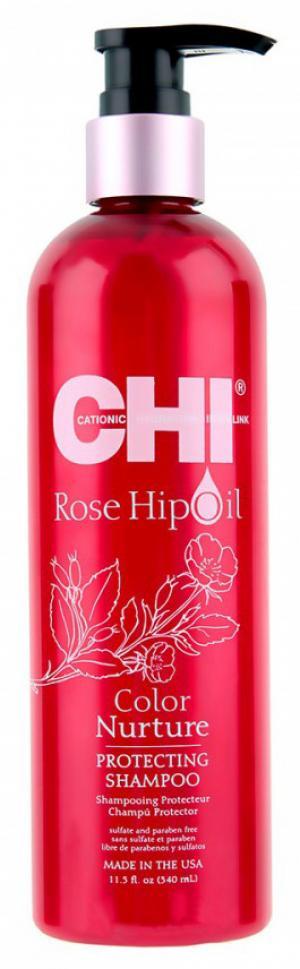 Шампунь захисний з маслом шипшини Chi Rose Protecting 340 мл - 00-00011500